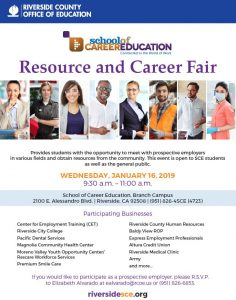 resource and career fair flyer