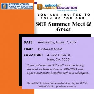 SCE 2019 Summer Meet & Greet