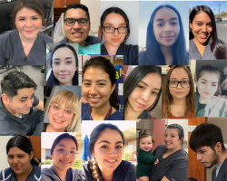 Photo collage of Dental Assistant studnets