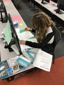 AOP Student Practicing Filling Skills