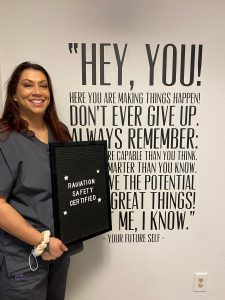 Dental Assistant Student is Radiation Safety Certified