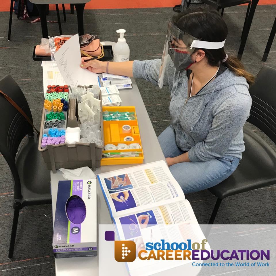 Phlebotomy Student Skills Training